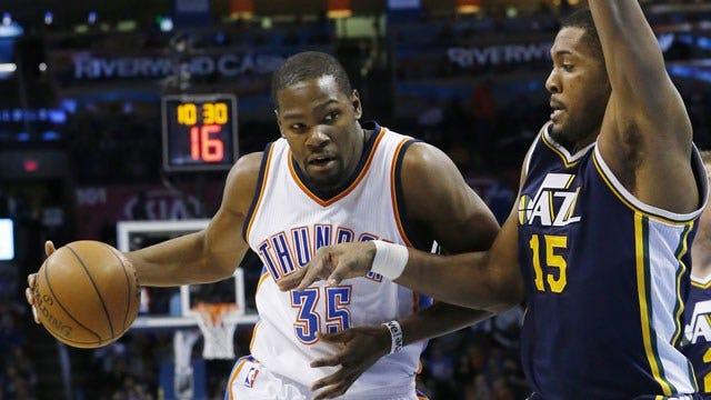 Durant's Heroics Help Thunder Escape Jazz