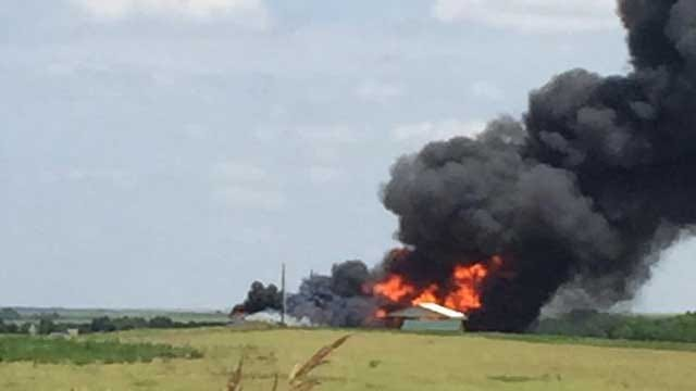 Crews On Scene Of Explosion At Hammon Salt Water Injection Well