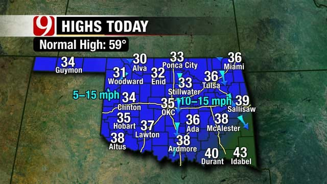 Warm Up Is On The Way After Wintry Oklahoma Weekend