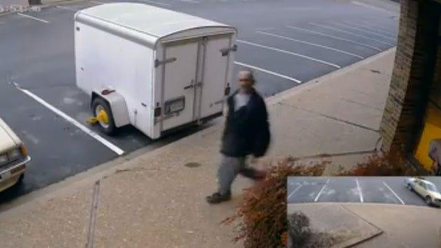 MWC Police: Burglary Suspect Hits Surveillance Camera With Shovel