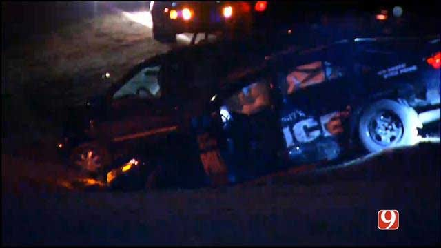 Emergency Crews Respond To Officer Involved Accident In SE OKC