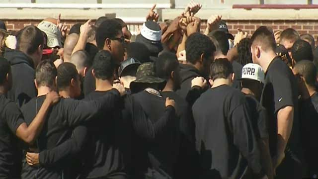 OU Football Team Holds Silent Protest In Response To SAE Video
