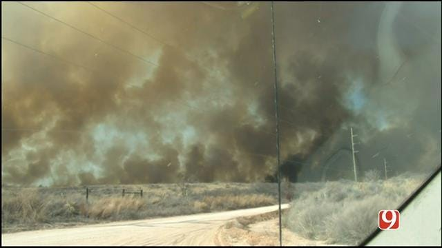At Least 23K Acres Burned In Wildfire Northeast Of Woodward
