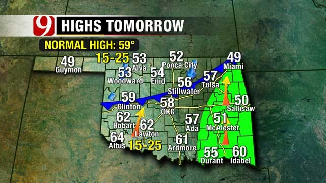 Warm Tuesday, Wintry Mix Arrives Early Wednesday In Oklahoma