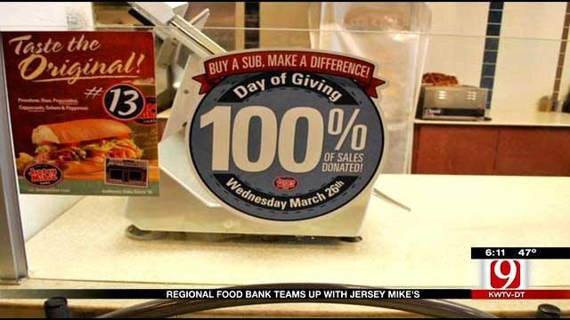 OKC Regional Food Bank Teams With Jersey Mike's Subs