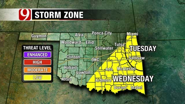 Gorgeous Sunday, But Chance Of Isolated Storms Mid Week In OK