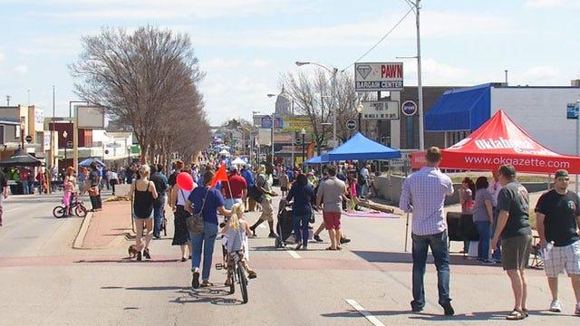 Thousands Enjoy 'Open Streets OKC' On Northwest 23rd
