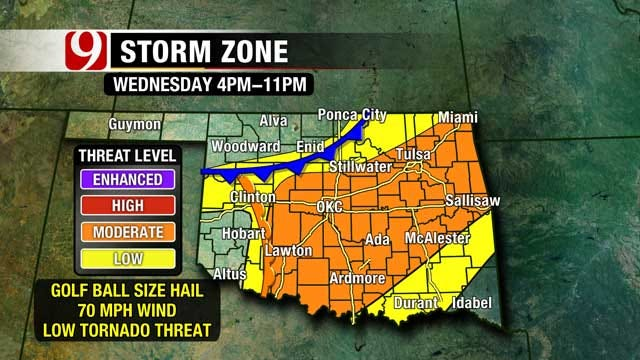 Severe Storms Possible This Week In Oklahoma