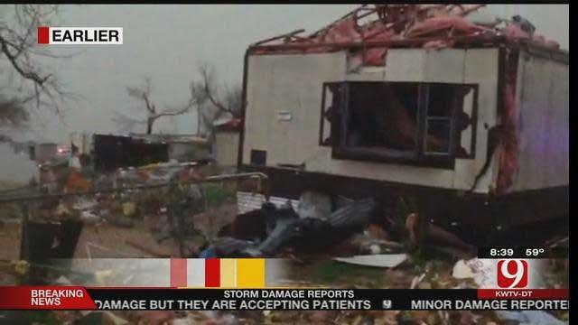 Severe Weather Rips Through Oklahoma Wednesday