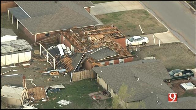Cleanup Begins After Severe Storms Rip Through Moore, Sand Springs
