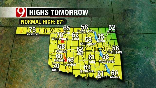 Seasonally Cool Weather Into the Weekend For Oklahoma