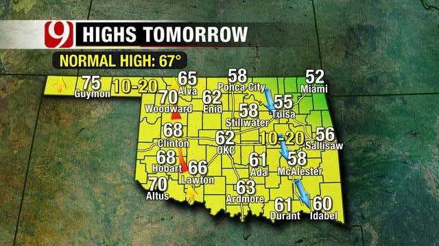 Seasonally Cool Weather Into the Weekend For Oklahoma