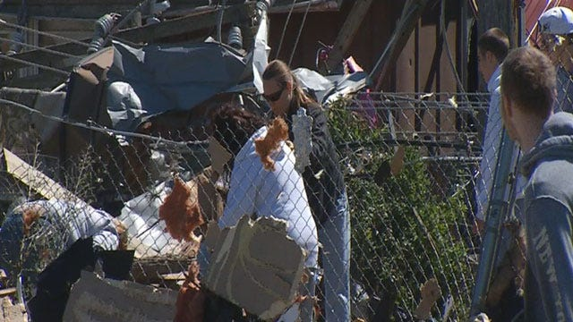 Cleanup Continues In Storm-Affected Areas In Moore, OKC