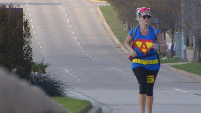 Guthrie Teacher Walks To State Capitol Ahead Of Rally