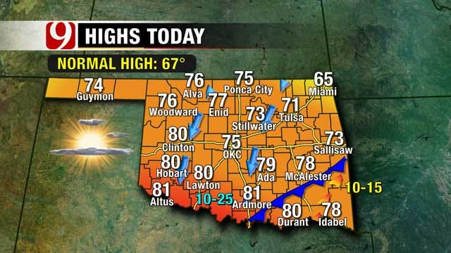 Mostly Sunny And Above Normal Temperatures Sunday