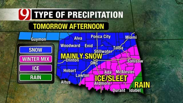 Oklahoma Bracing For Winter Wallop
