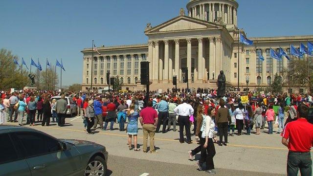 Education Rally Held At Oklahoma Capitol