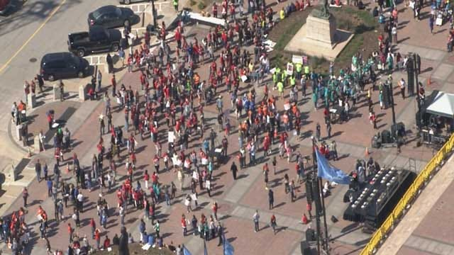Thousands Rally At Oklahoma Capitol For Education Funding
