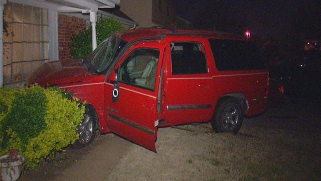 Driver Arrested After Crashing Into NW OKC Home
