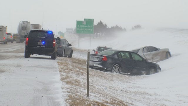 Slick Road Conditions Reported Across Oklahoma