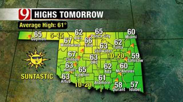 Mostly Sunny Skies This Weekend In Oklahoma