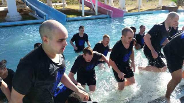 OK Law Enforcement Officers 'Plunge' Into Cold Water For Good Cause