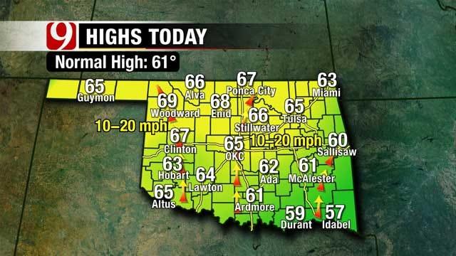 Sunny And Mild Saturday In Oklahoma