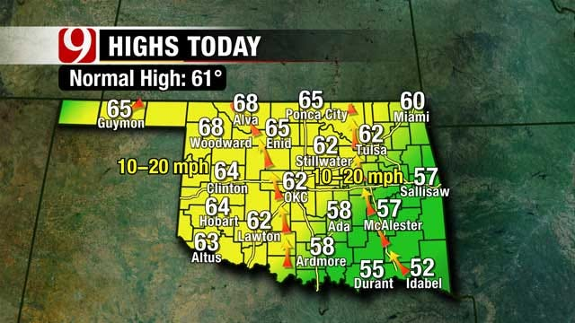 Warmer Temperatures, Small Chance of Rain Throughout Oklahoma