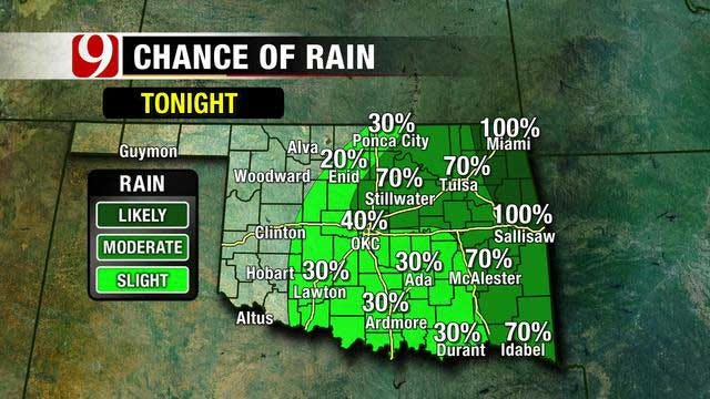 Rain Moving Out, Warmer Weather Expected In Oklahoma