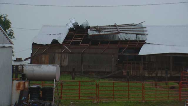 Several Structures Damaged In Blanchard