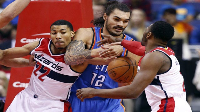Thunder Waxes Wizards, KD Leaves With Hamstring Issue