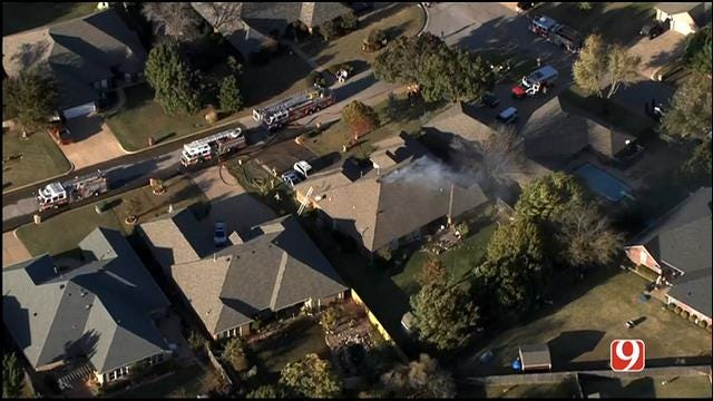 Crews Battle House Fire In South Edmond