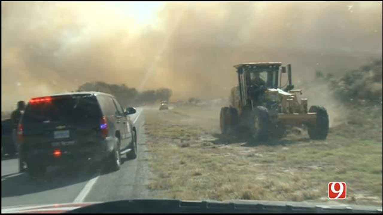 Oklahoma Firefighters Busy Responding To Multiple Grass Fires
