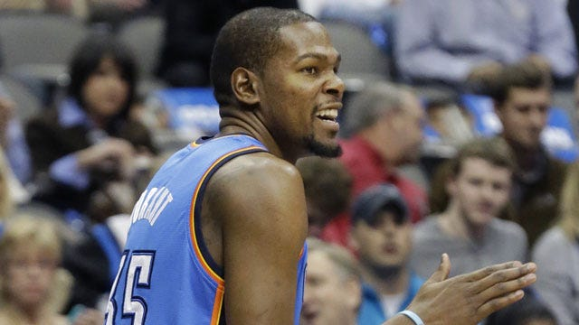 Thunder's Durant Out At Least 7-10 Days With Strained Hamstring