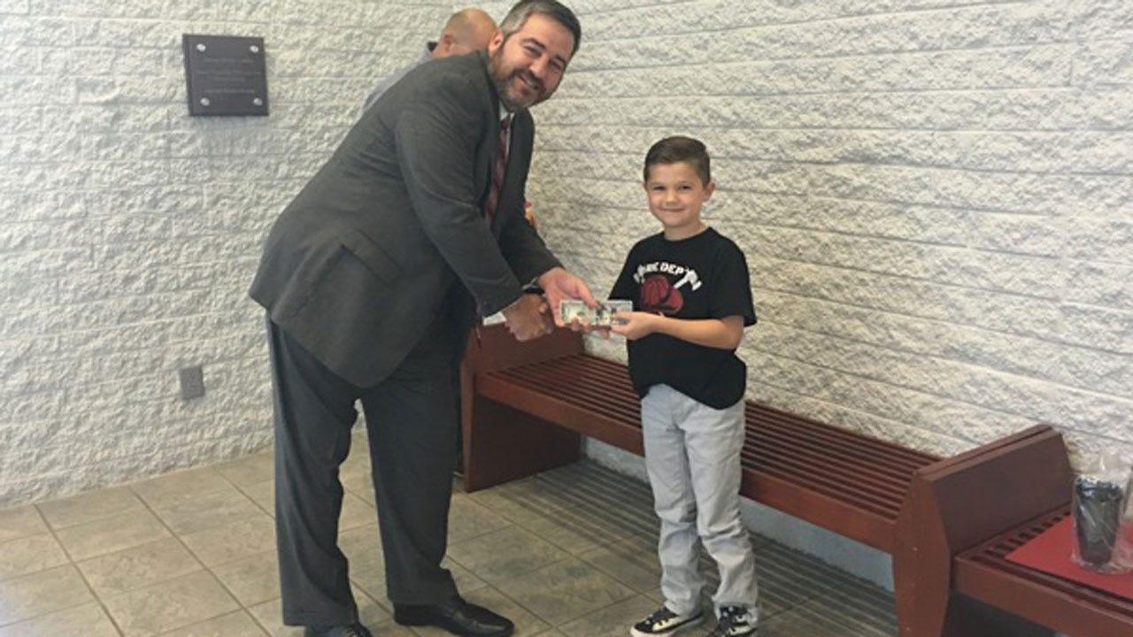 Mustang Boy Donates Birthday Money To American Red Cross