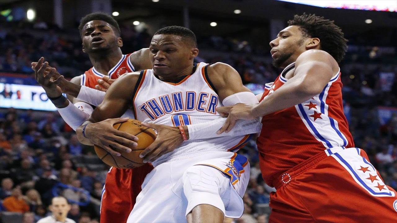 Westbrook's Second Straight Triple Double Leads Thunder To Victory Over Sixers