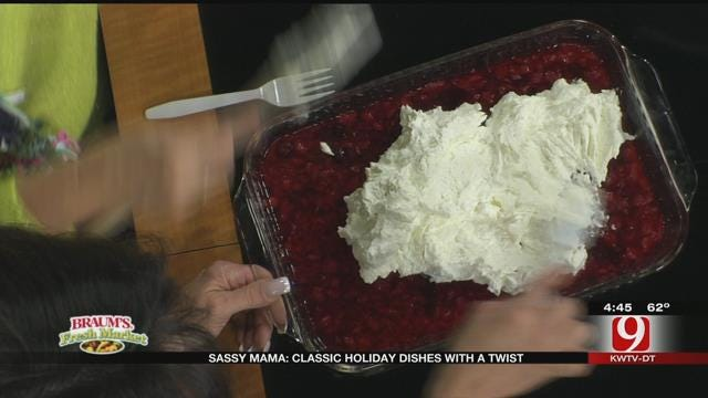 Cranberries and Cream Salad