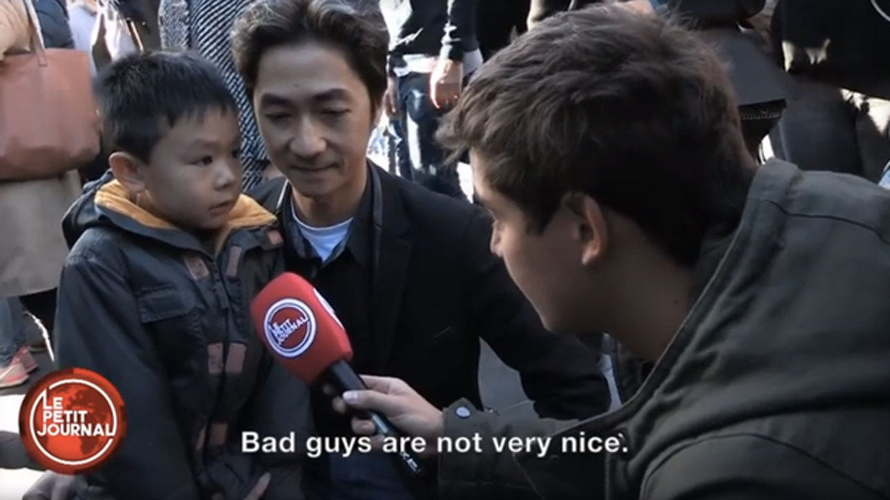 Little Boy Explains 'Bad Guys' To His Dad After Paris Attacks