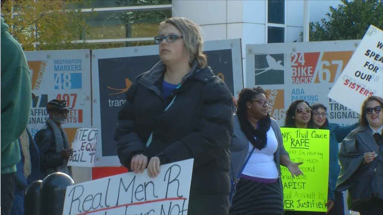 Protesters Gather In Support Of Victims In Holtzclaw Trial