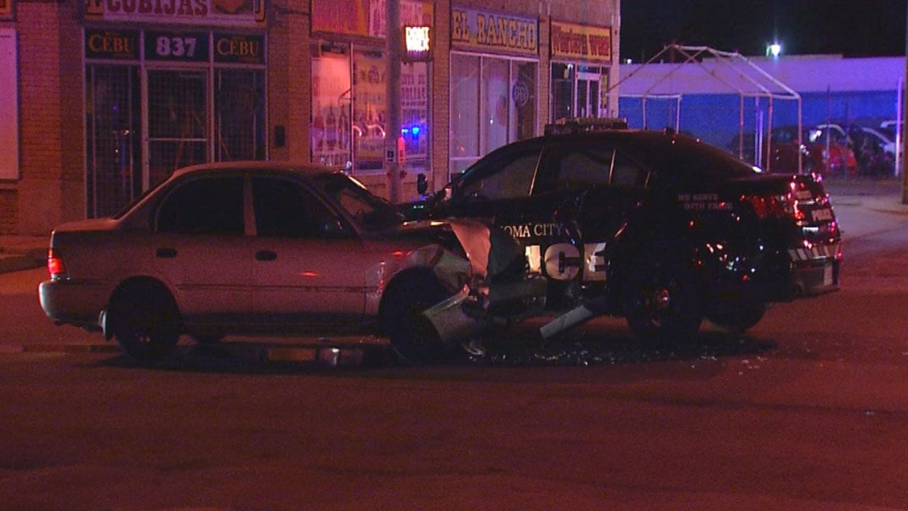 OKC Officer Escapes Serious Injury Following Crash