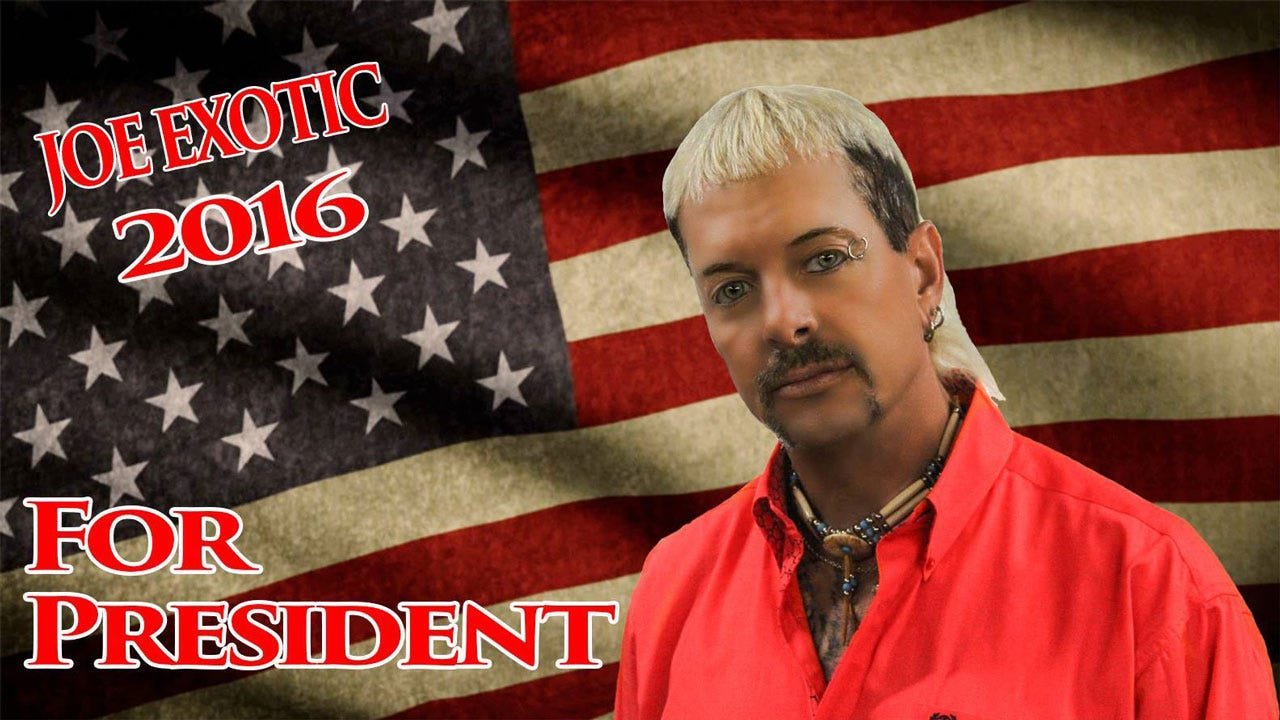 Owner Of Wynnewood Exotic Animal Park Announces He's Running For President
