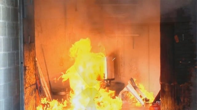 OKC Fire Department Demonstrates How Not To Fry A Turkey