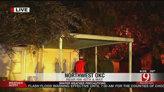 OKC Firefighter Injured While Battling House Fire