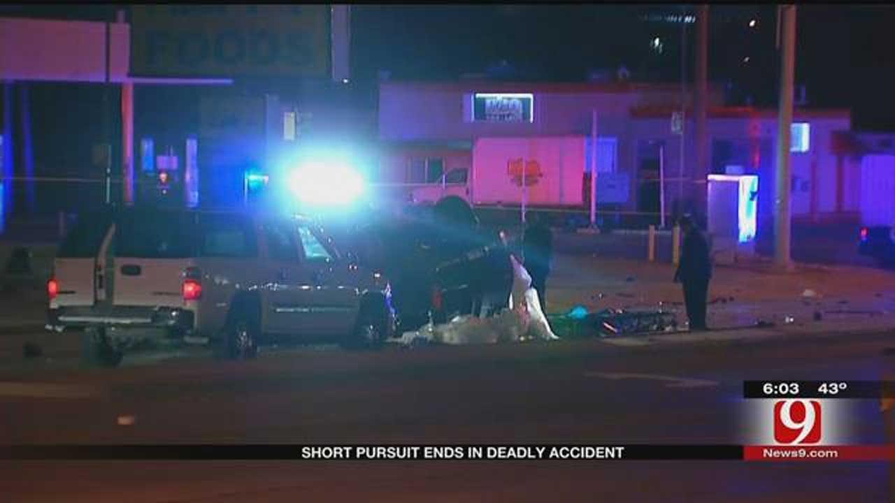 OKC Police Pursuit Ends In Fatal Crash