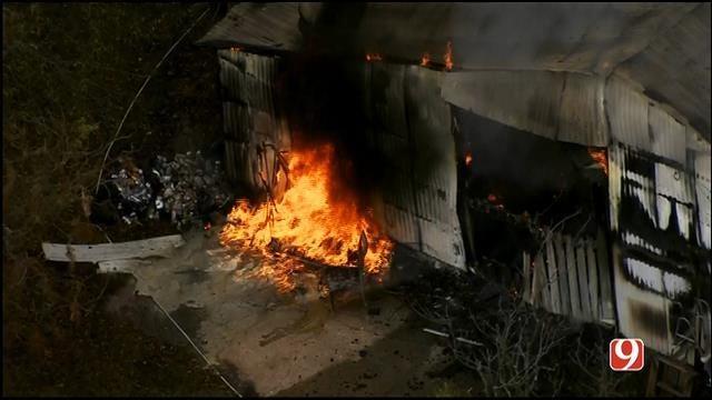 Crews Contain Barn Fire In Jones