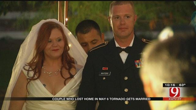 Bridge Creek Couple Marries On Time After Losing Everything In Tornado