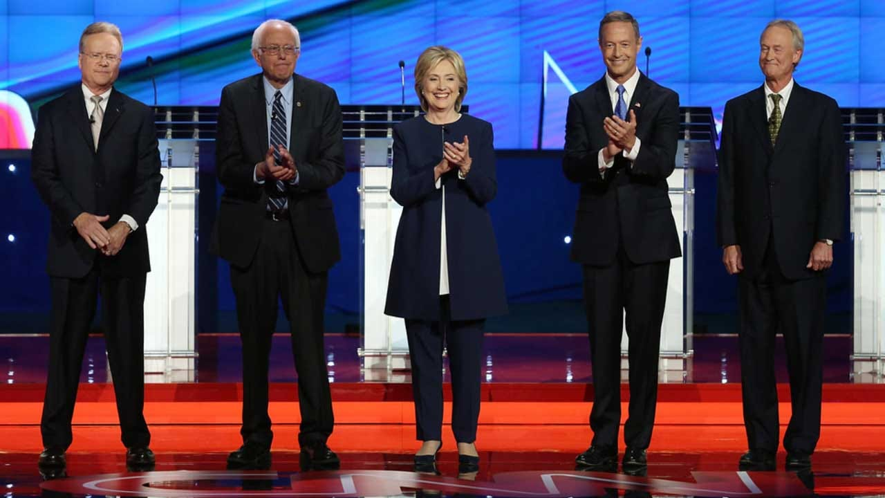 In Democratic Debate, Candidates Tangle On Gun Control, Wall Street Reform