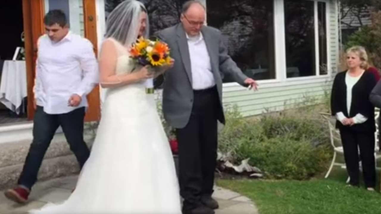 Wheelchair-Bound Dad Walks Daughter Down Aisle In Big Surprise