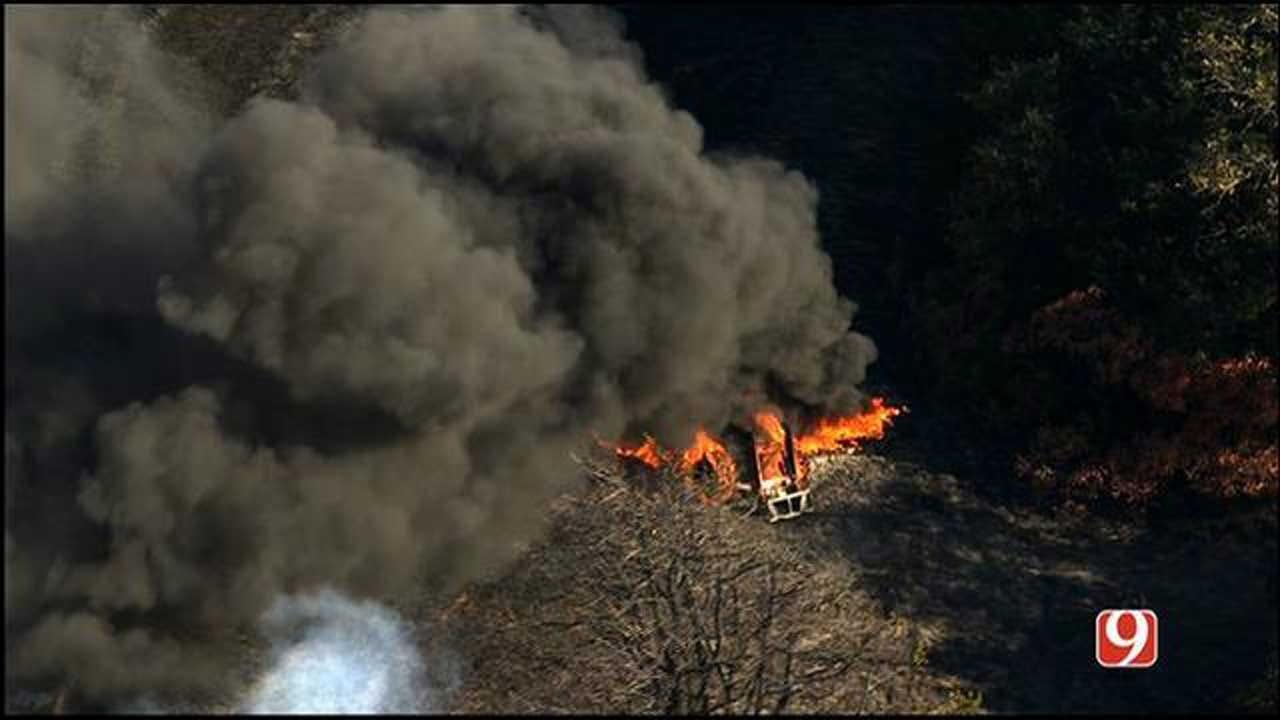Crews Battle Grass Fire In Guthrie