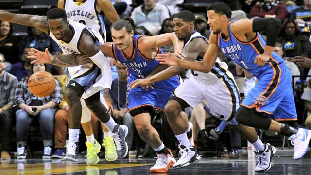 Grizzlies Maul Thunder In Battle Of The Backups